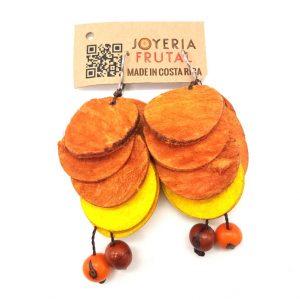 Aretes de Mango - Naranja combinado con amarillo