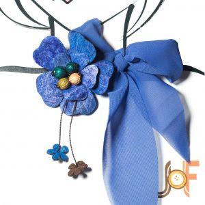 Collar Pañuelo Flor de Mango - Azul