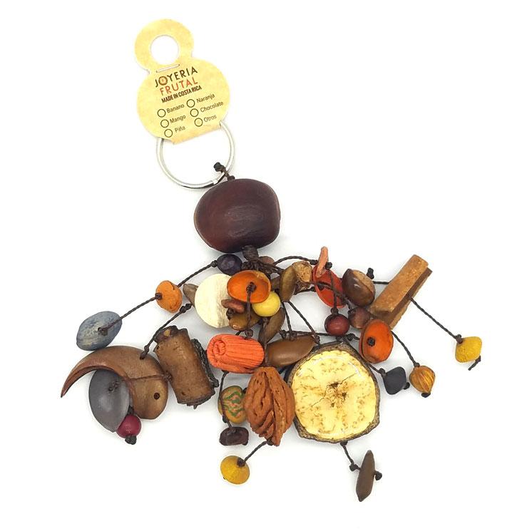 Llavero de semillas mixtas - Naranja