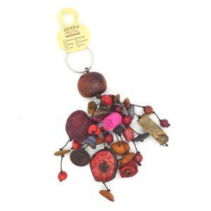 Llavero de semillas mixtas - Violetas