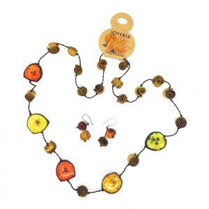 Collar Safari banano y naranja - tonos otoñales